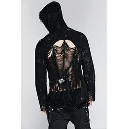 Punk Rave Men's Spider Web Skull Jacket Y 235