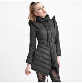 Punk Rave Women's High Collar Lace Up Down Jacket Y 616