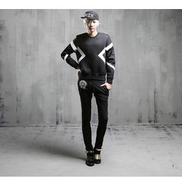 2016 Autumn Winter New Fashion Men Space Cotton Sweatshirts