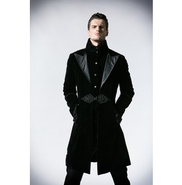 Punk Rave Gothic Men's Chinese Knot Overcoat Y 377