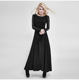 Designer Punk Rock Fashion Slim Long Sleeve Dresses