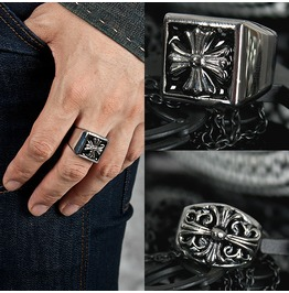 Celtic Cross Engraved Metal Ring 28