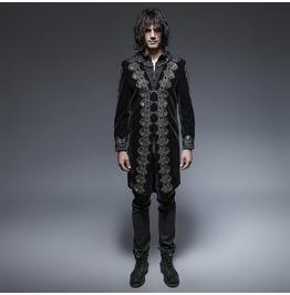 Punk Rave Men's Gothic Victorian Embossed Overcoat Y 641