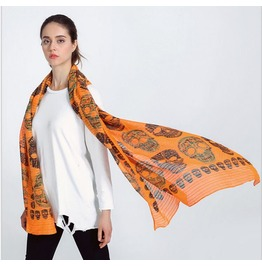 High Quality Color Scarf Skull Scarves Shawl Air Conditioning Sunscreen