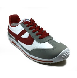 Panam White / Red / Grey Unisex Vintage Style Sneaker