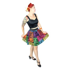 """""""Lindy"""" Colorful Papel Picado Skirt"""