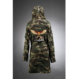 Mens Vintage/Mens Rocket Patch Hood Camo Field Jacket