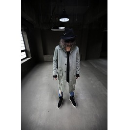 Men's Cotton Damage Loose Fit Long Coat