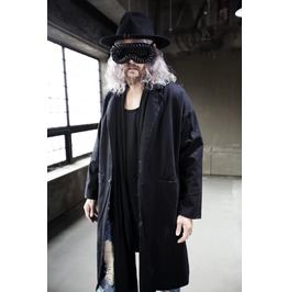 Dark Grunge One Button Coat