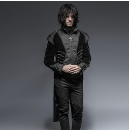 Punk Rave Men's Gothic Victorian High/Low Swallow Tail Overcoat Y 649