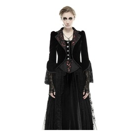 Punk Rave Women's Gothic Flower De Luce Swallow Tail Overcoat Y 656
