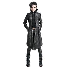 Punk Rave Women's Vintage Bronze Faux Leather Overcoat Y 422