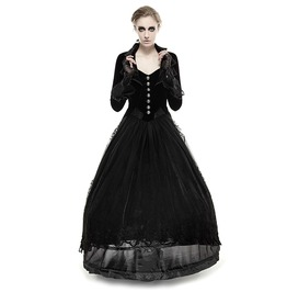 Punk Rave Women's Gothic Victorian High/Low Swallow Tail Overcoat Y 658