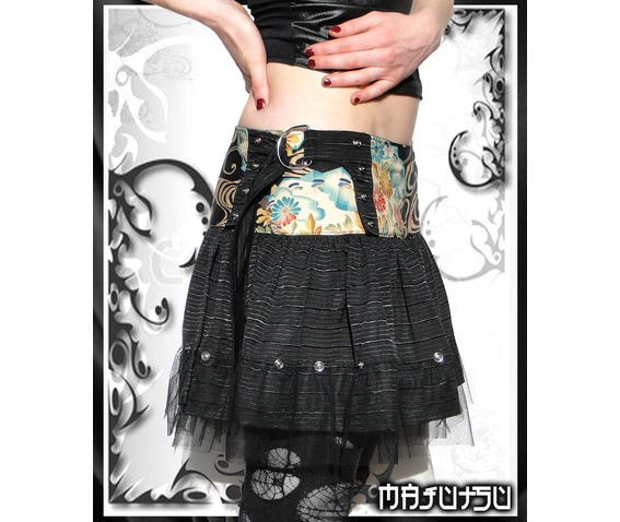 Japan Wrap Mini Skirt Black Fans_Skirts_2.jpg