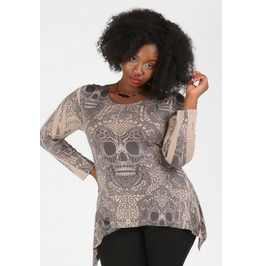 Dearly Departed Plus Size Skull Top