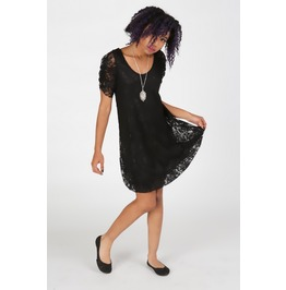 Black Bird Lace Dress