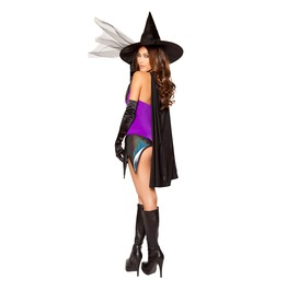 Sexy Witch 3 Piece Fetish Bewitched Vixen Halloween Costume $9 To Ship