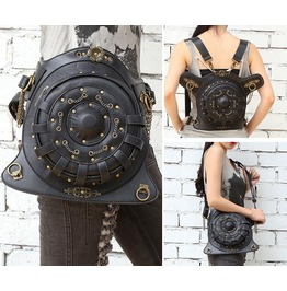 Handbag Pu Leather Retro Punk Multifunction Pockets Ms. Messenger Bag