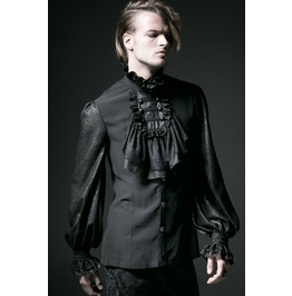 Punk Rave Men's Gothic Shirt Black Y 522