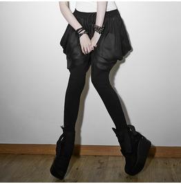 Punk Rave Women's Punk Multilayer Casual Harem Pants Black Pk 057