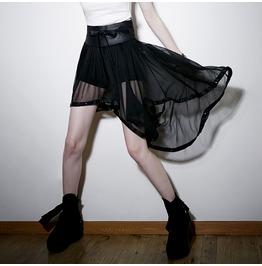 Punk Rave Women's Asymmetrical Sheer Chiffon Culottes Pq 088