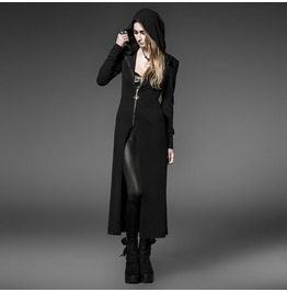 Punk Rave Women's Gothic Zipper Hooded Overcoat/Cape Py 046