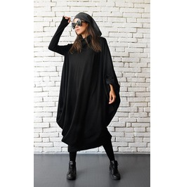 Maxi Black Dress / Black Kaftan Dress / Oversize Loose Tunic / Maxi Dress