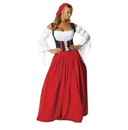 Sexy Swiss Serving Girl Miss Long Dress Fetish Halloween Costume $9 To Ship