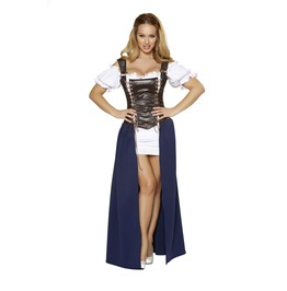 Sexy Medieval Serving Wench Long Dress Fetish Halloween Costume $9 To Ship