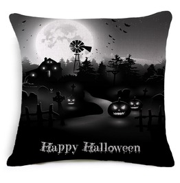 Unique Halloween Print Cushion Covers Cu31