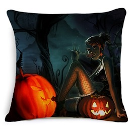 Unique Halloween Print Cushion Covers Cu35