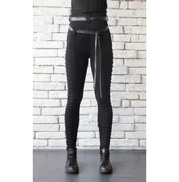 Extravagant Black Leggings/Casual Long Black Pants/High Waist Pants