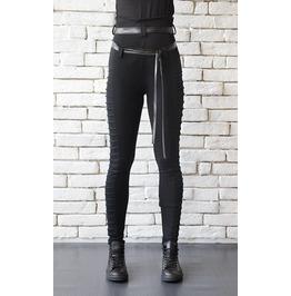 Extravagant Black Leggings/Casual Long Black Pants/High Waist Pants