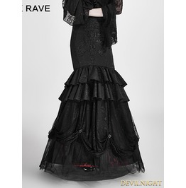 Black And Red Gothic Detachable Two Wear Gothic Skirt