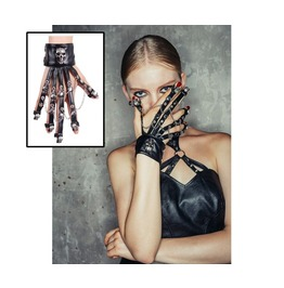 Devil Fashion Black Gothic Punk Skeleton Wrist Strap
