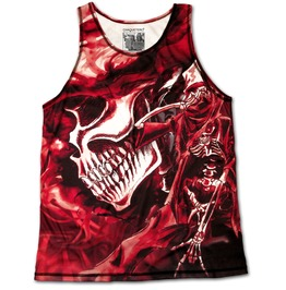 Unique Red Skull Rock'n'death Designer Vest Tattoo Singlet Unisex Fashion Tank Top Chaquetero