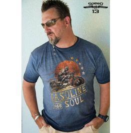 Gasoline Soul, Men's T Shirt, Custom Dyed Black Or Blue