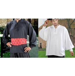 Mens Classic Plain Black Or White Pirate Shirt Halloween Costume $9 To Ship