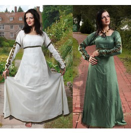 Medieval Forest Princess Dress Green Off White Halloween Costume