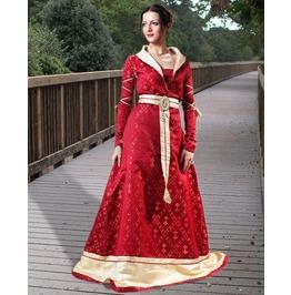Medieval Royalty Fleur De Lis Full Length Dress Halloween Costume $9 To Ship