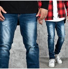 Cool Washed Vintage Blue Denim Jeans 226