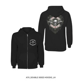 Avenged Sevenfold Hooded Sweatshirt Official A7 X Fourish Zip Hoodie