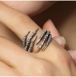 Talon Ring Adjustable Ring 925 Silver Six Claw Ring Fashion Exaggerated