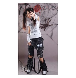 Women's Gothic Three Pieces Punk Rave Pants