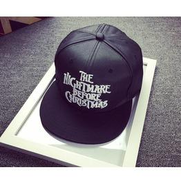 Hip Hop Cap Letter Skull Hat Black A15