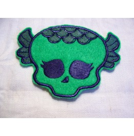 Embroidered Green Scale Type Monster Patch Sew/Iron On