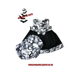 Spooky Gothic Baby & Toddler Halloween Vampire Dress By Madame Le Goth