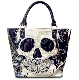 Women's Death Moth Hear, See, Speak No Evil Bag Skulls Punk Goth