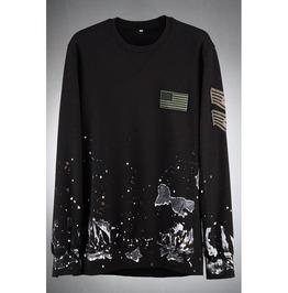 Grunge Vintage Color Custom Long Sleeve Embroidered Sweatshirts