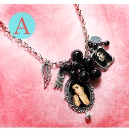 Amy Winehouse Soul Tattoo Back To Black Charm Necklace